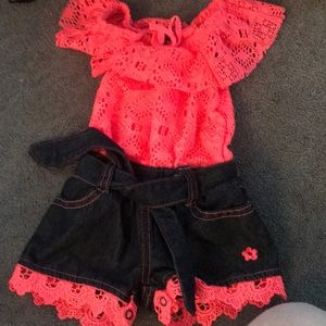 Babygirl 3-6 month Limited Too one pieceoutfit